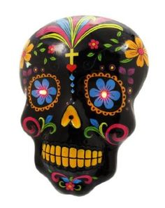 Amazon.com: Black DAY OF THE DEAD Skull Wall Hanging LED Eyes: Home & Kitchen