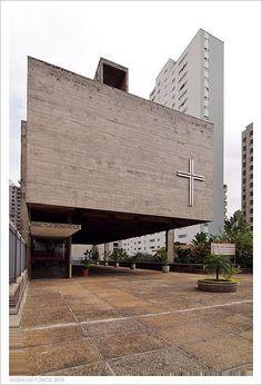 Centro Paroquial São Bonifácio, São Paulo, 1966. Arquiteto Hans Broos