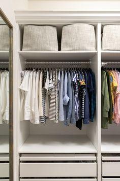 women's closet organization ideas, built in dresser in closet, IKEA closet hack organization ideas master ikea Ikea Closet Hack, Ikea Pax Hack, Ikea Pax Wardrobe, Closet Hacks, Closet Organization, Organization Ideas, Wardrobe Storage, Wardrobe Ideas, Storage Ideas