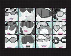 Unique digital paper collage created in Adobe Photoshop and Illustrator Collage, Glasses, Digital, Create, Paper, Illustration, Art, Eyewear, Art Background