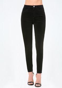 Velveteen High Waist Jeans