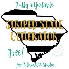 Free striped state generator for Silhouette Studio