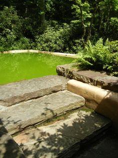 Swimming pool at Fallingwater. #fallingwater #franklloydwright