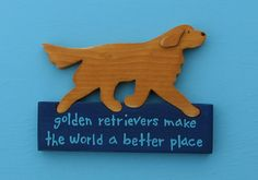 Golden Retriever Rustic Wood Sign