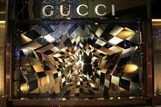 gucci window display by designducky, via Flickr Window Display Design, Store Window Displays, Vitrine Design, Retail Fixtures, Store Interiors, Retail Windows, Visual Display, Design Strategy, Window Art