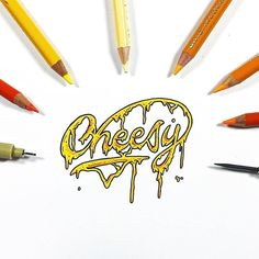 Definitely going to have to eat something with melted cheese after seeing this. Cheesy by @pizzadrawingsonly – use #typegang to be featured – #cheese #pizza #italianfood #mozzarella #pasta #dinner #sketch #bacon #goodtype #pizzalover #foodgasm...