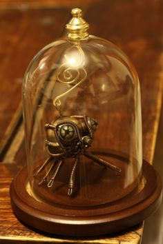 Steampunk Octopus Ornament with Glass Dome by CatherinetteRings on ...