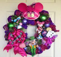 Cheshire Alice in Wonderland Wreath  by SparkleForYourCastle, $225.00