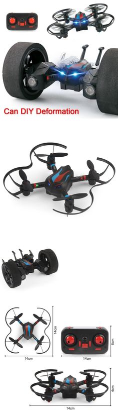 Remote-Controlled Toys 84912: Diy Deformation Stunt Car 2.4G High Hold Mode Mini Drone 3D Flips Rc Quadcopter -> BUY IT NOW ONLY: $59.99 on eBay!