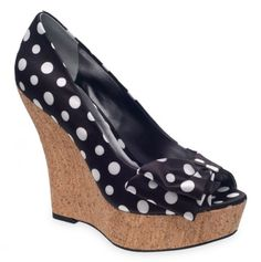 Polka Dot Wedge--I've always felt more stable in wedges than in heels. :)