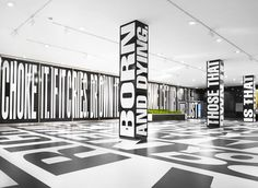 A look at Barbara Kruger and Jenny Holzer's use of Typographic Art Barbara Kruger, Golden Wallpaper, Monospace, Jenny Holzer, Store Signage, Exhibition Display, Electronic Art, Land Art, Graphic Design Typography