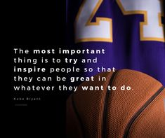Kobe was amazing, right?  The most important thing is to try and inspire people so that they can be great in whenever they want to do.  #Inspire #KobeBryant Kobe Bryant, Inspire, Amazing, People, Free, Inspiration, Biblical Inspiration, People Illustration, Folk