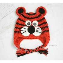 Gorro Tigre A Crochet. Descuentos Por Cantidad