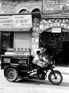 Thessaloniki. 1962  Photo by Hubertus Hierl Greece Pictures, Old Pictures, Old Photos, Vintage Photos, Old Greek, Greek Art, Ancient Greek, Thessaloniki, Greece Photography