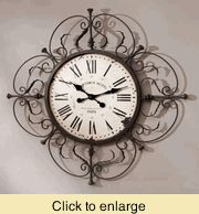 Scrolled clock