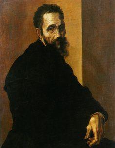 Michelangelo di Lodorico Buonarroti Simoni 1475-1564 known for Sculpture, Painting, architecture and Poetry.