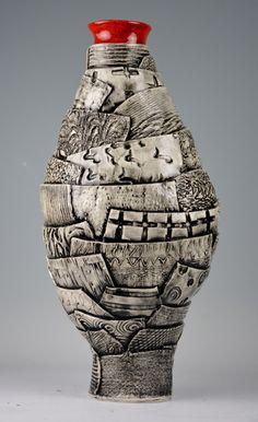 Large Patchwork Vase