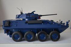 Gi Joe CUSTOM 2002 BBI Blue Box Elite Force 1/18 Scale USMC Marine LAV