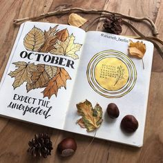 15 Cozy Bullet Journal Layouts Perfect For Fall - Bullet Planner Ideas Bullet Journal Month, Bullet Journal Cover Page, Bullet Journal Notebook, Bullet Journal School, Bullet Journal Spread, Bullet Journal Layout, Bullet Journal Inspiration, Journal Covers, Journal Ideas