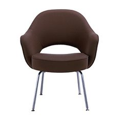 Classic Contemporary Furniture for Luxury House: Mesmerizing Eero Sarinen Dining Chairas Classic Modern Chairs With Brown Color Metal Based ~ promwardrobe.com Furniture Inspiration