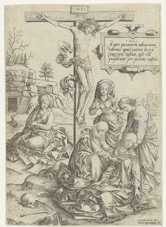 Christus aan het kruis met bezwijmende Maria en andere heiligen, Pieter Huys, Hans Liefrinck (I), 1545 - 1577