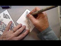 Inkidoodles.com  Melinda Barlow CZT : Q Belle Tangle Pattern Lesson #141
