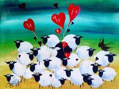 Colourful-folk-art-valentines-wall-art