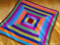 Plaid multicolor al crochet | Todo crochet
