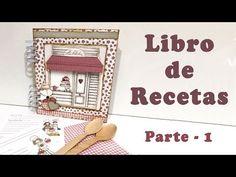 YouTube Tutorial Scrapbook, Kitchen Themes, Mini Books, Scrapbooks, Album Covers, Mini Albums, Bookmarks, Cricut, Kawaii