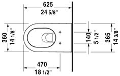 Duravit - Darling New Toilets Toilet wall-mounted #254409 by Duravit
