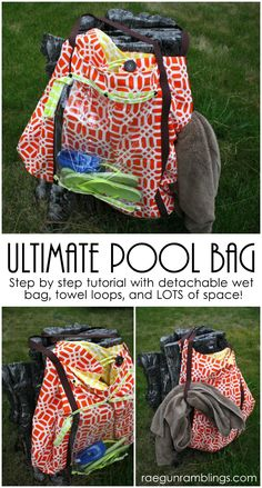 Awesome giant pool bag with free pattern. Love this made myself one and already have friends hounding me to make one for them.
