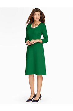 Ottoman Fit & Flare Dress - Talbots