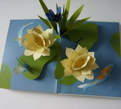 pop up cards flowers flower garden - Buscar con Google