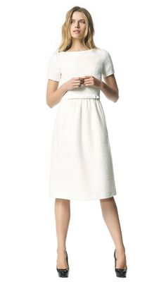 Audrey - ecru - Tweed jurk | LaDress