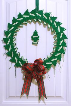 Christmas wreath made from pine tree air fresheners!