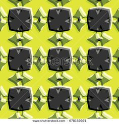 Bass-relief, optical illusion. Colorful seamless texture with shadow. Geometric vector pattern for website, corporate style, party invitation, wallpaper, interior design