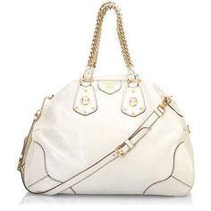 Prada Large Leather Bowler Handbag @ Bagborroworsteal.com