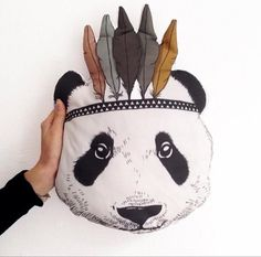 2016 New Fahion Baby StuffedToys Pillow Kids Room Bed Sofa Decorative Indian Panda Cushion Children's Best Gift