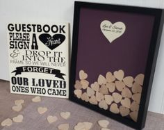 Unique Wedding Guest Book Frame with Painted by CraftyMamaGifts