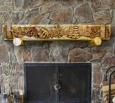 86 best carved fireplace mantels images carving wood carvings rh pinterest com Build Your Own Fireplace Mantel Wood Carved Fireplace Mantels Dollywood
