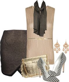 """Stripes and Shine"" by brendariley-1 ❤ liked on Polyvore"
