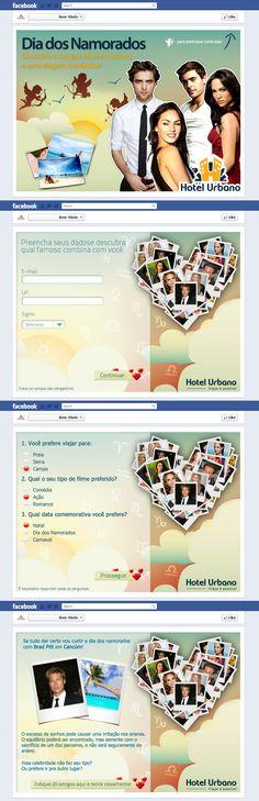 Criação Jogo Facebook Hotel Urbano Dia dos Namorados!