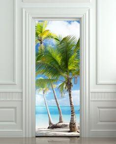"Door STICKER Palms, Beach, Resort, Ocean, Sea mural decole film self-adhesive poster 30x79""(77x200 cm) Pulaton,http://www.amazon.com/dp/B00HWHH6XS/ref=cm_sw_r_pi_dp_XLg2sb0NW2932PZ0"