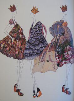 Antonio Marras for Kenzo fashion illustration couture runway