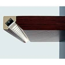 LED Tape Light Channel - 45 // Perfect for open shelving or under kitchen cabinets . Cove Lighting, Indirect Lighting, Strip Lighting, Interior Lighting, Lighting Design, Under Shelf Lighting, Display Lighting, Garage Lighting, Lighting Ideas
