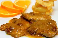 SOLOMILLO EN SALSA DE NARANJA - A comer y a callar Steak Recipes, New Recipes, Favorite Recipes, Kitchen Recipes, Cooking Recipes, Meat Steak, Peruvian Recipes, Catering Food, Carne Asada