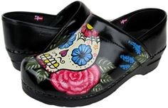 Hand painted Sanita women's clogs