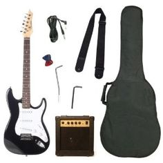 http://suliaszone.com/barcelona-black-electric-guitar-package-with-10-watt-amp-beginner-kit/: Barcelona Black Electric Guitar Package with 10 Watt Amp - Beginner Kit: Musical Instruments