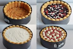 TORT CU IAURT SI FRUCTE - Rețete Fel de Fel Sweets Recipes, Baking Recipes, Brze Torte, Charlotte Dessert, Helathy Food, Delicious Desserts, Yummy Food, Parfait Recipes, Romanian Desserts