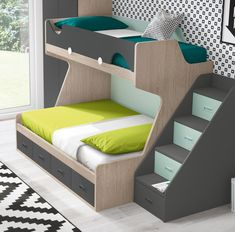 Elegant Bedroom Furniture Ideas To Get Farmhouse Vibes. If you are looking for Bedroom Furniture Ideas To Get Farmhouse Vibes, You come to the right place. Kids Bed Design, Kids Bedroom Designs, Bunk Bed Designs, Bedroom Ideas, Diy Bedroom, Bunk Bed Rooms, Bunk Beds With Stairs, Kids Bunk Beds, Boys Bedroom Furniture